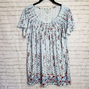 [NWOT!] STYLE & CO stretchy floral peasant top